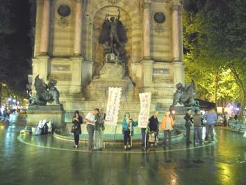 démarrage du jeûne 2011 fontaine Saint-Michel